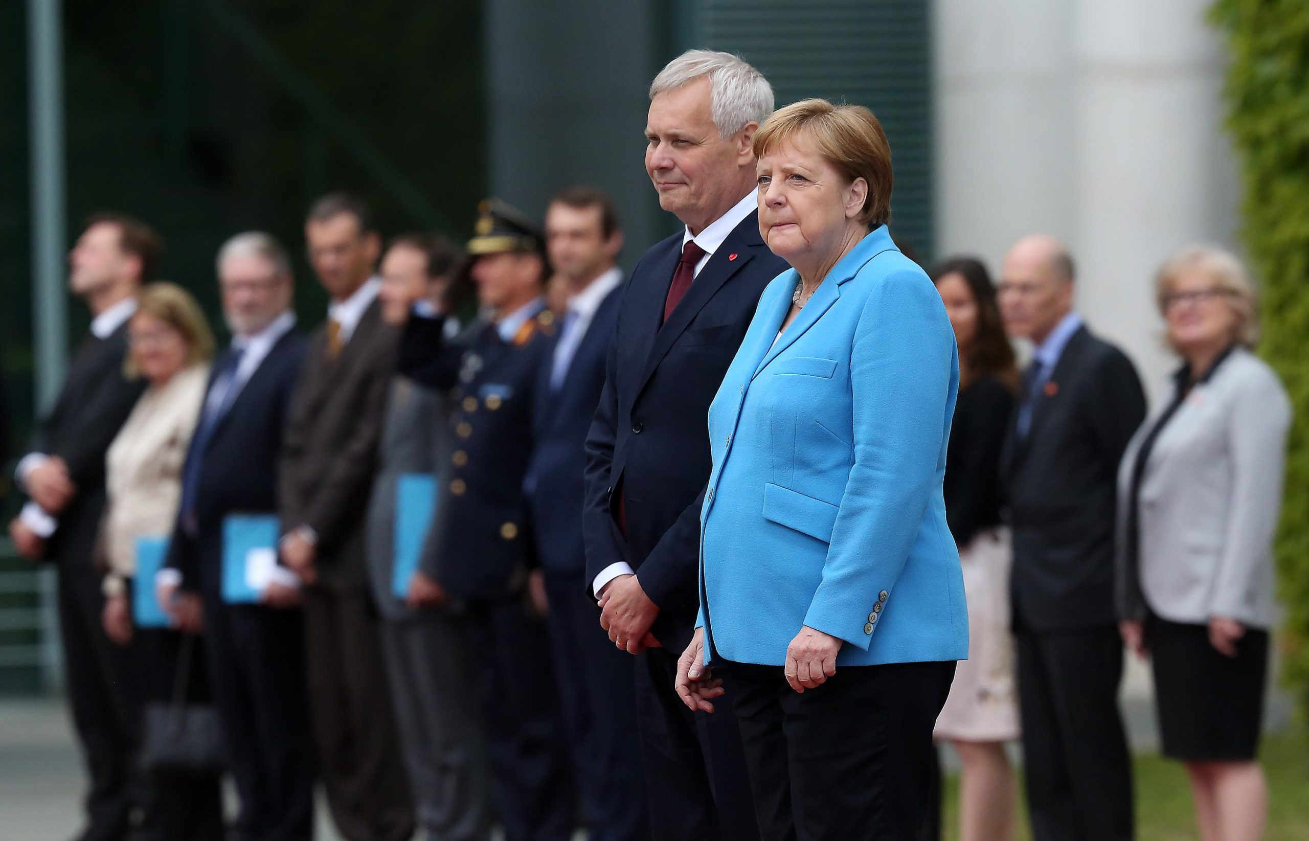 New Finnish Prime Minister Antti Rinne Visits Berlin